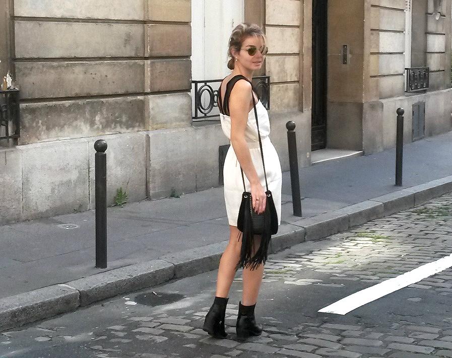 robe blanche sandro 2