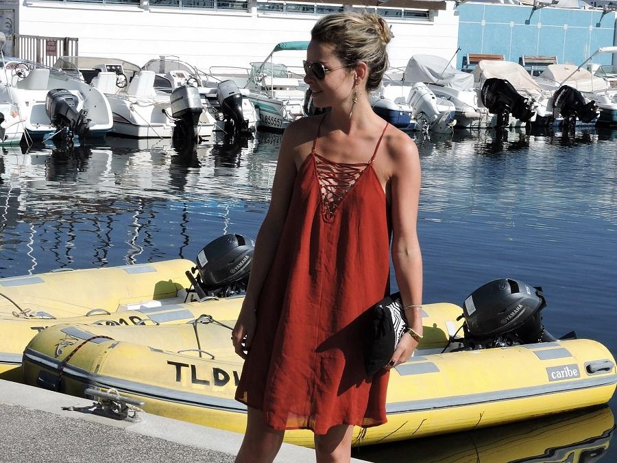 robe rouge h&m 3
