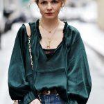 blouse verte h&m 6