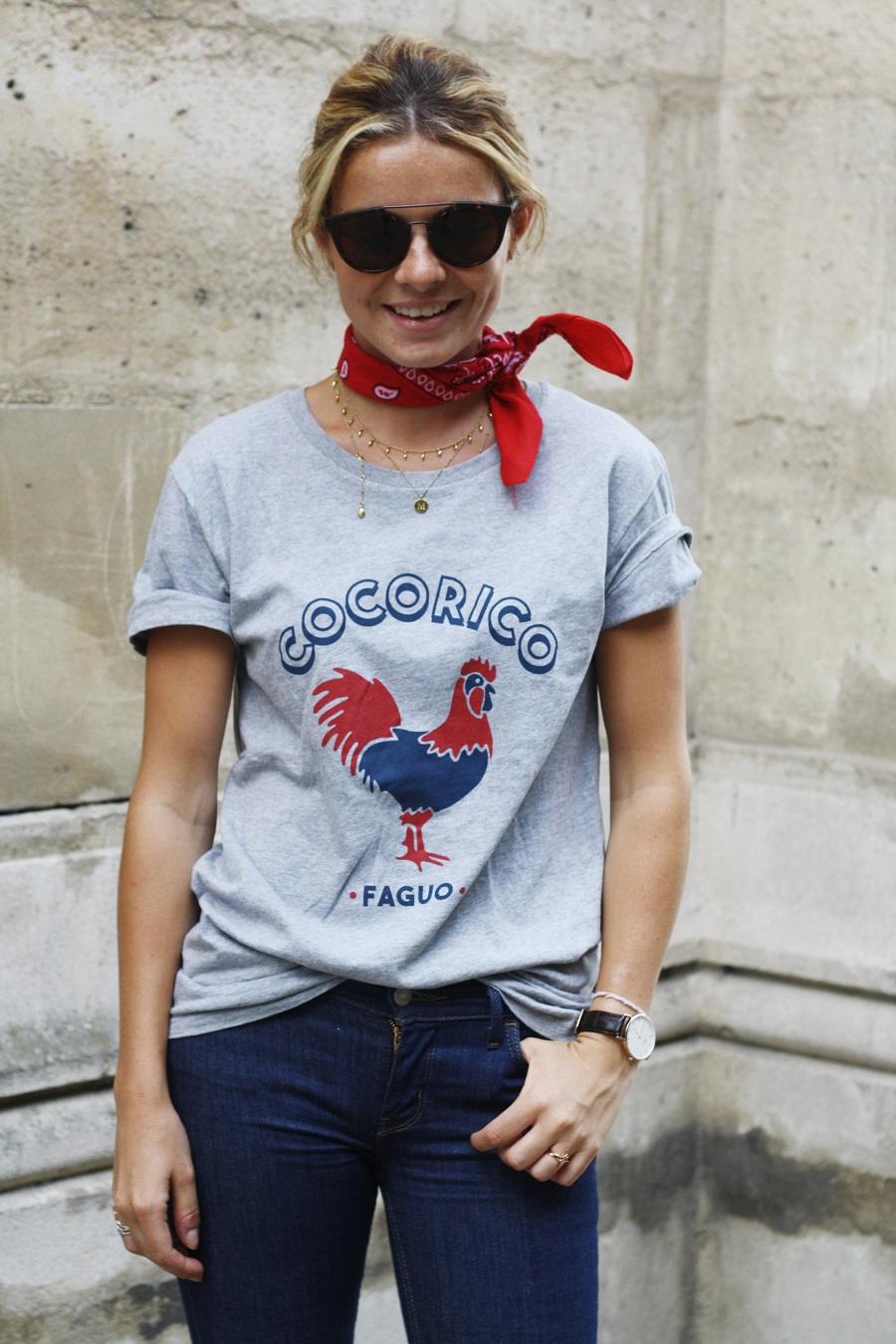 mathilde margail tee shirt faguo jean levis 711 look de parisienne shot by gisele is nerdy 1