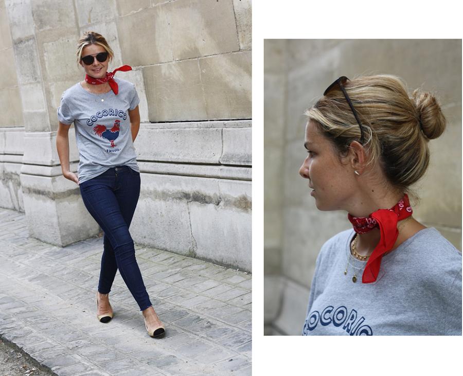 mathilde margail tee shirt faguo jean levis 711 look de parisienne shot by gisele is nerdy 7
